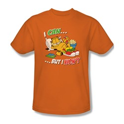 Garfield - I Can… Adult T-Shirt In Orange