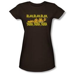 Garfield - Blah, Blah, Blah Juniors T-Shirt In Kelly Green