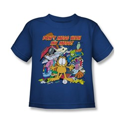 Garfield - My Mess Little Boys T-Shirt In Royal Blue