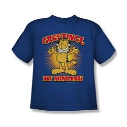 Garfield - Minions Big Boys T-Shirt In Royal Blue