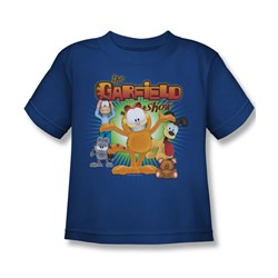 Garfield - The Garfield Show Little Boys T-Shirt In Royal Blue
