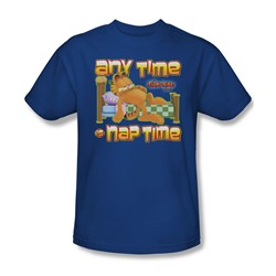 Garfield - Nap Time Adult T-Shirt In Royal Blue