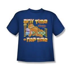 Garfield - Nap Time Big Boys T-Shirt In Royal Blue