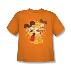 Garfield - Odie Big Boys T-Shirt In Orange