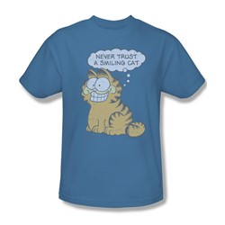 Garfield - Smiling Cat Adult T-Shirt In Carolina Blue