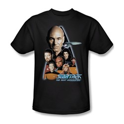 Star Trek - St: Next Gen / The Next Generation Crew Adult T-Shirt In Black