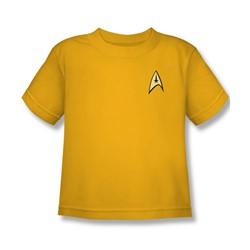 Star Trek - St / Command Uniform Little Boys T-Shirt In Gold
