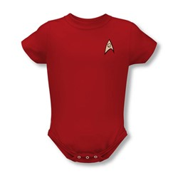 Star Trek - St / Engineering Uniform Infant T-Shirt In Red
