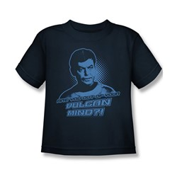 Star Trek - St / Vulcan Mind Little Boys T-Shirt In Navy