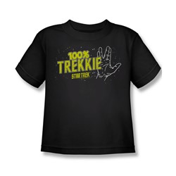 Star Trek - St / 100% Trekkie Little Boys T-Shirt In Black