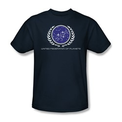 Star Trek - St / United Federation Logo Adult T-Shirt In Navy