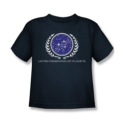 Star Trek - St / United Federation Logo Little Boys T-Shirt In Navy