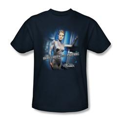 Star Trek - St: Voyager / Seven Of Nine Adult T-Shirt In Navy