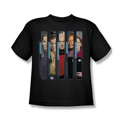 Star Trek - St / The Captains Big Boys T-Shirt In Black
