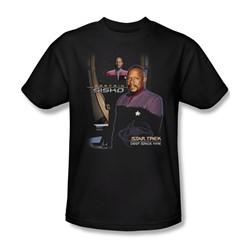 Star Trek - St: Ds9 / Captain Sisko Adult T-Shirt In Black