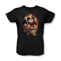 Star Trek - Heart Of The Enterprise Womens T-Shirt In Black