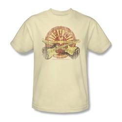 Sun Records - Crossed Guitars Adult T-Shirt In Cream