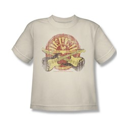Sun Records - Crossed Guitars Big Boys T-Shirt In Cream