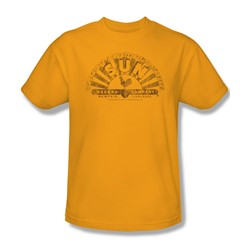 Sun Records - Worn Logo Adult T-Shirt In Gold