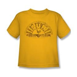 Sun Records - Worn Logo Little Boys T-Shirt In Gold
