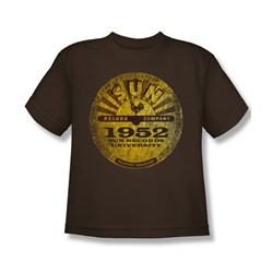 Sun Records - Sun University Distressed Big Boys T-Shirt In Coffee
