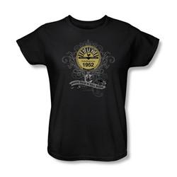 Sun Records - Rockin' Scrolls Womens T-Shirt In Black