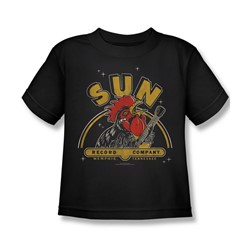 Sun Records - Rocking Rooster Little Boys T-Shirt In Black