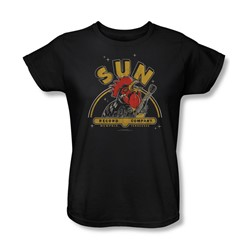 Sun Records - Rocking Rooster Womens T-Shirt In Black