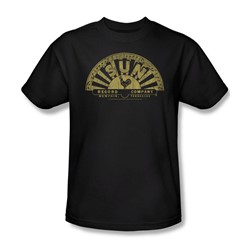Sun Records - Tattered Logo Adult T-Shirt In Black