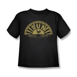 Sun Records - Tattered Logo Little Boys T-Shirt In Black