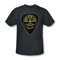 Sun Records - Guitar Pick Adult T-Shirt In Charcoal