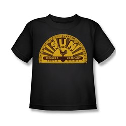 Sun Records - Traditional Logo Little Boys T-Shirt In Black