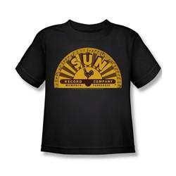 Sun Records - Traditional Logo Little Boys T-Shirt In Black