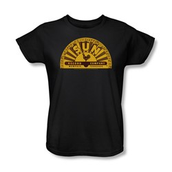 Sun Records - Traditional Logo Womens T-Shirt In Black