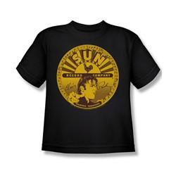 Sun Records - Elvis Full Sun Label Big Boys T-Shirt In Black