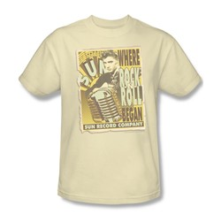 Sun Records - Rock N Roll Began Poster Adult T-Shirt In Cream