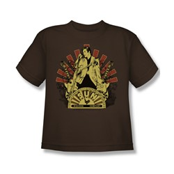 Sun Records - Elvis Rising Big Boys T-Shirt In Coffee