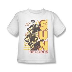 Sun Records - Tri Elvis Little Boys T-Shirt In White