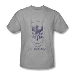 Batman - I'M Batman Adult T-Shirt In Heather