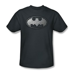 Batman - Duct Tape Logo Adult T-Shirt In Charcoal