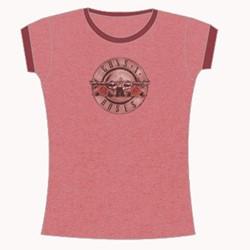 Guns N Roses - Bullet Duotone Girls S/S T-Shirt In Pink