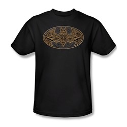 Batman - Aztec Bat Logo Adult T-Shirt In Black