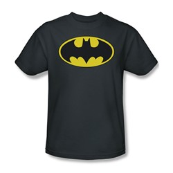 Batman - Classic Bat Logo Adult T-Shirt In Charcoal