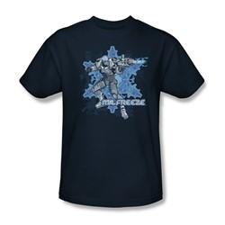 Batman - Mr. Freeze Adult T-Shirt In Navy
