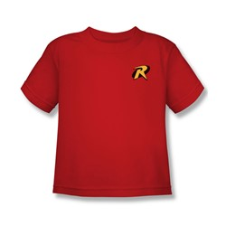 Batman - Robin Logo Little Boys T-Shirt In Red