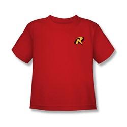 Batman - Robin Logo Juvy T-Shirt In Red