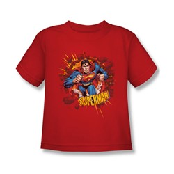 Superman - Sorry About The Wall Juvy T-Shirt In Red