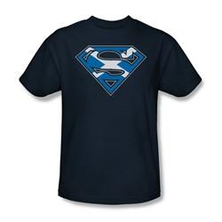 Superman - Scottish Shield Adult T-Shirt In Navy
