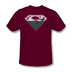 Superman - Welsh Shield Adult T-Shirt In Cardinal