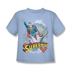 Superman - Skyward Little Boys T-Shirt In Light Blue